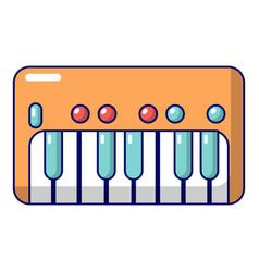 Synthesizer piano icon cartoon style vector