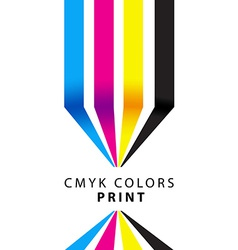 Cmyk colors print presentation vector