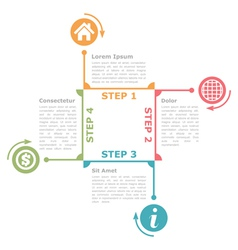 Four steps diagram template vector
