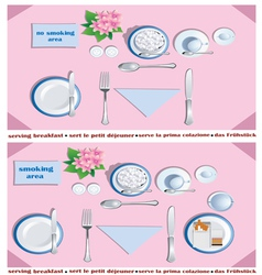 Serving breakfast vector