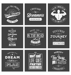 Set of vintage motivation typographic quotes vector