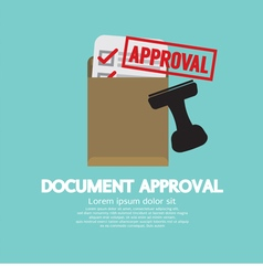 Document approval stamp vector