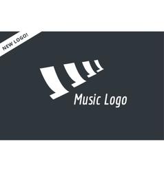 Abstract music piano keys logo icon melody vector