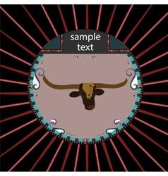 Buffalo head vector image vector image