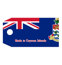 Cayman islands flag on price tag vector