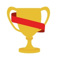 cup trophy ribbon icon graphic vector image