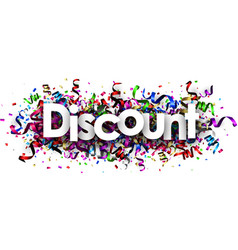 Discount banner with colorful serpentine vector