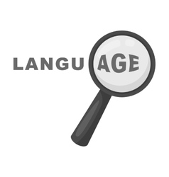 Learning foreign language icon in monochrome style vector