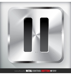 Metal pause button vector