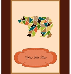 Mosaic bear vector