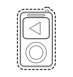 Music player gadget icon image vector