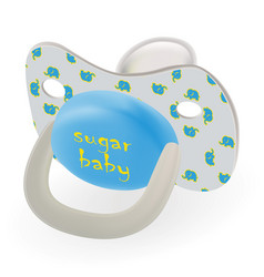 orthodontic baby s dummy child pacifier or nipple vector image vector image