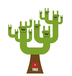 Rock and roll tree fantastic tree from rock hand vector