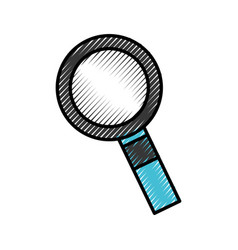 search magnifying glass icon vector image