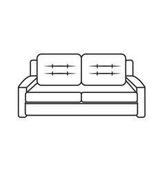 sofa furniture comfort image outline vector image vector image
