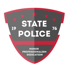 State police badge icon vector