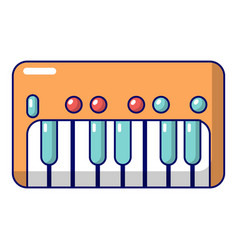 Synthesizer piano icon cartoon style vector