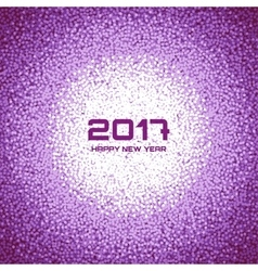 Violet New Year Circle Frame Cristmas Background vector image vector image
