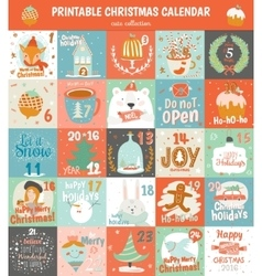Printable advent calendar in vector