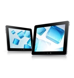 tablet computer set abstract backroung vector image
