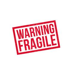 warning fragile rubber stamp vector image