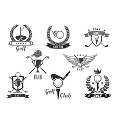 Golf sport club symbol set for sporting design vector