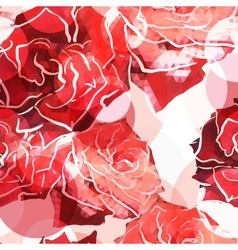 Rose background floral abstract pattern vector