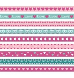 Borders with hearts vector image