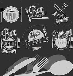 Vintage food design elements vector image