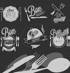 Vintage food design elements vector image