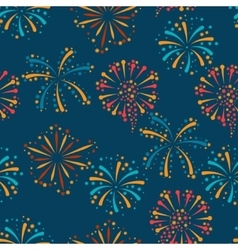 Seamless pattern with abstract fireworks and vector