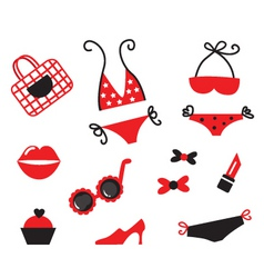 bikini icons vector image