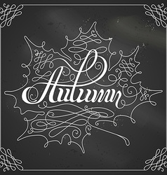 Chalk autumn calligraphy vector