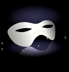 White carnival half-mask vector