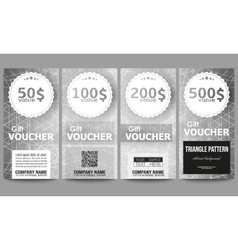 Set of modern gift voucher templates sacred vector