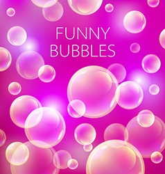 Abstract soap bubbles background Transparent vector image