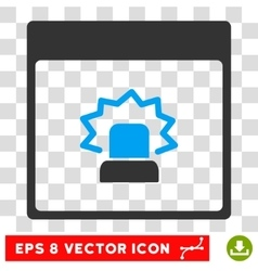 Alert calendar page eps icon vector