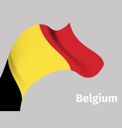 background with belgium wavy flag vector image