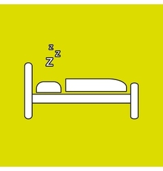 Bed isolated design vector