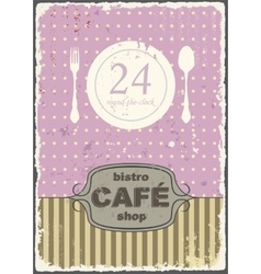 Cafe shop vintage retro template vector