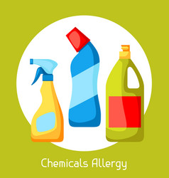 chemicals allergy for medical vector image vector image