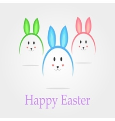 Easter eggs in the form of rabbits vector image vector image