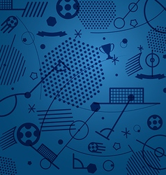 Football championship abstract background vector image vector image