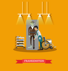 frankenstein movie concept in vector image vector image
