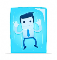 frozen manager vector image vector image