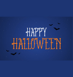 Halloween night background greeting card vector