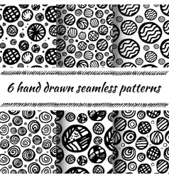 Hand drawn seamless abstract pattern vector