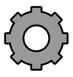 Isolated one gear vector