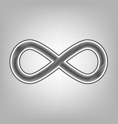 Limitless symbol pencil vector