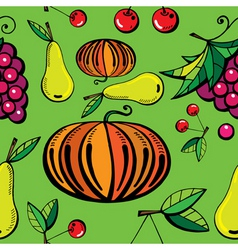 natural food print vector image vector image